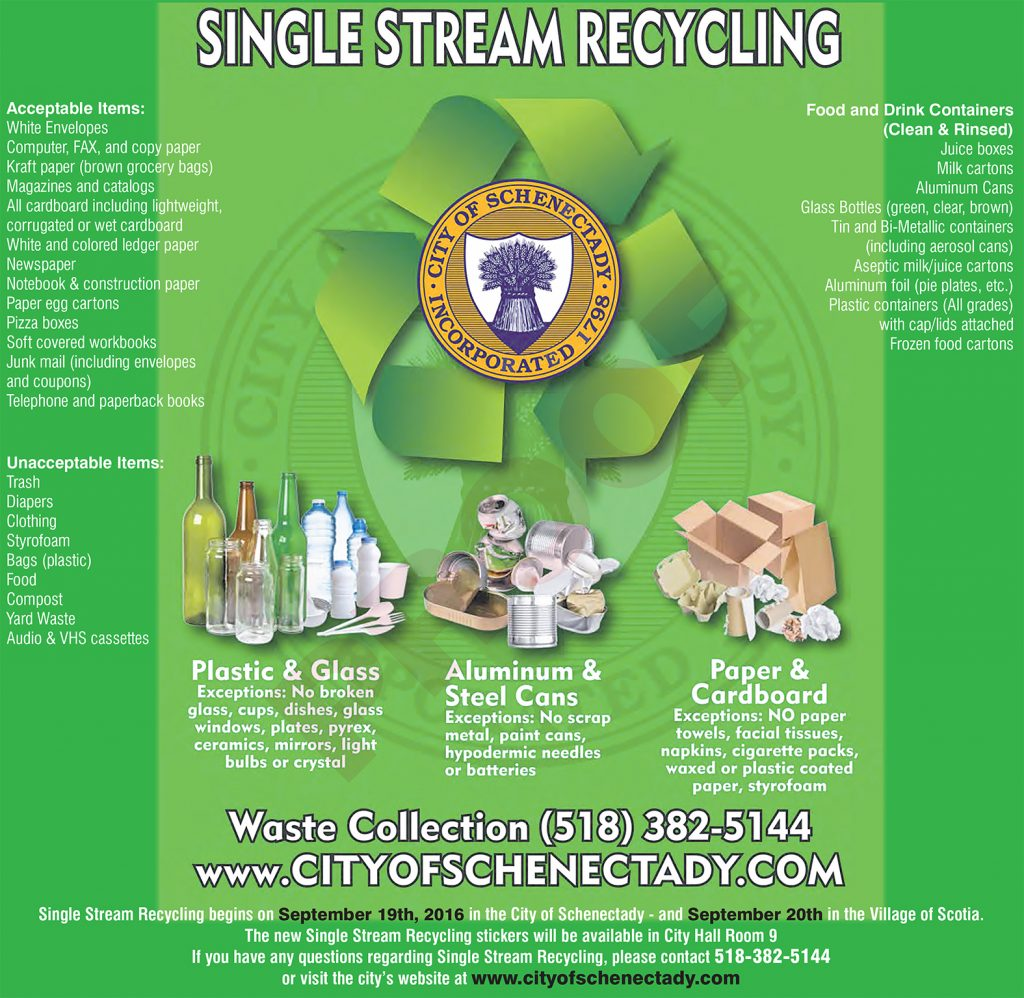 Single Stream Recycling BANA Schenectady