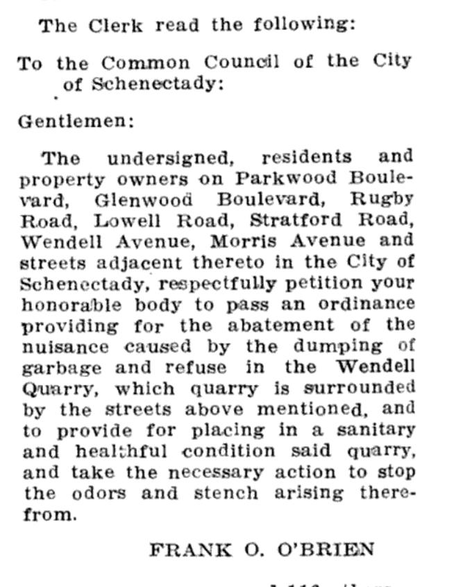 June 12, 1916 City Council Minutes Schenectady