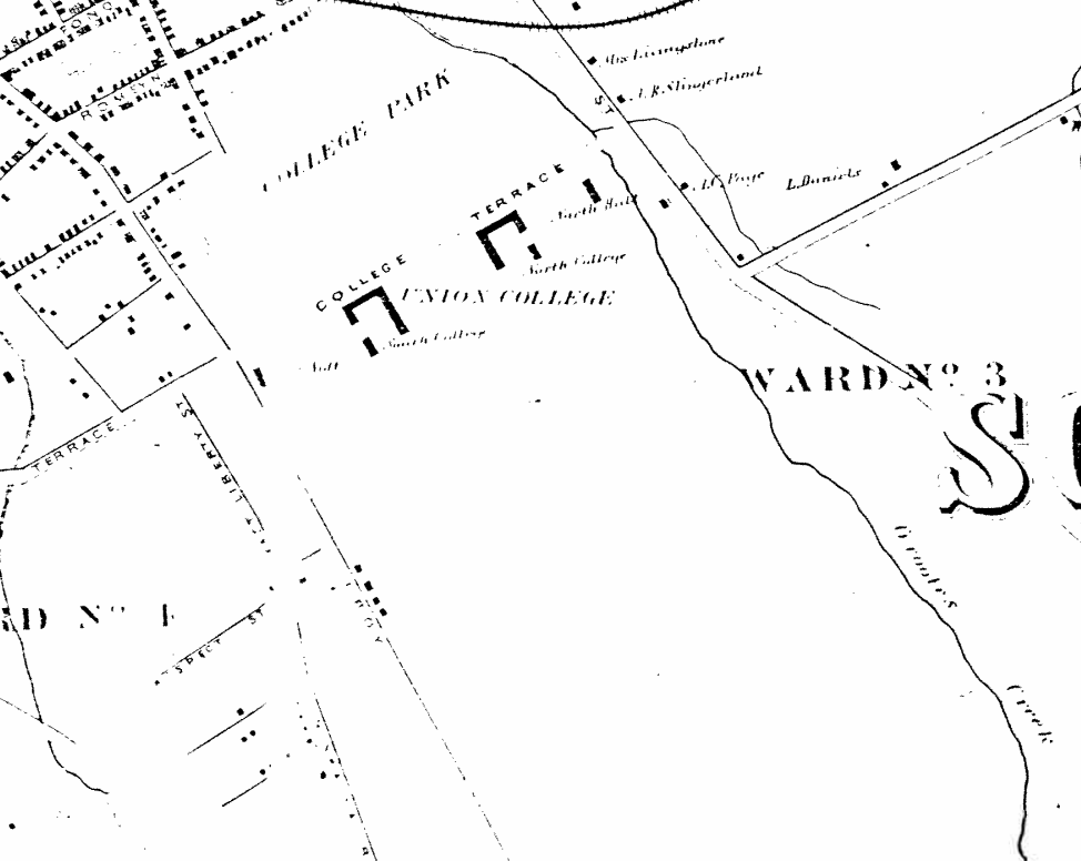 Map of Schenectady, 1866, from Beers' Atlas of Schenectady County