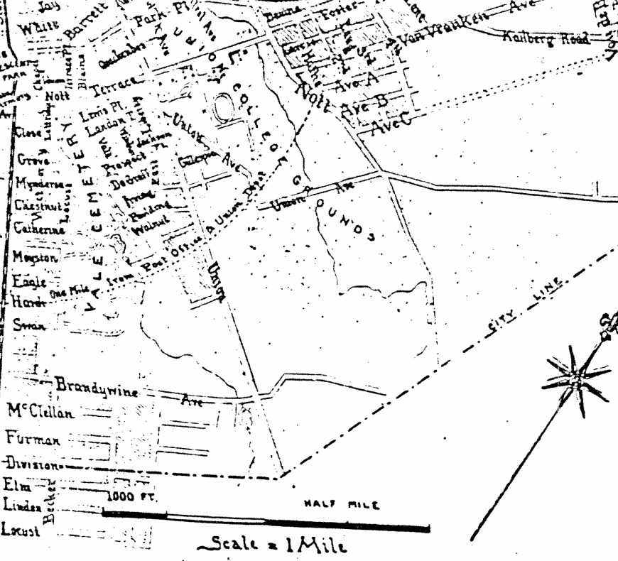 Map of Schenectady, 1895, Edwin Conde, City History Center