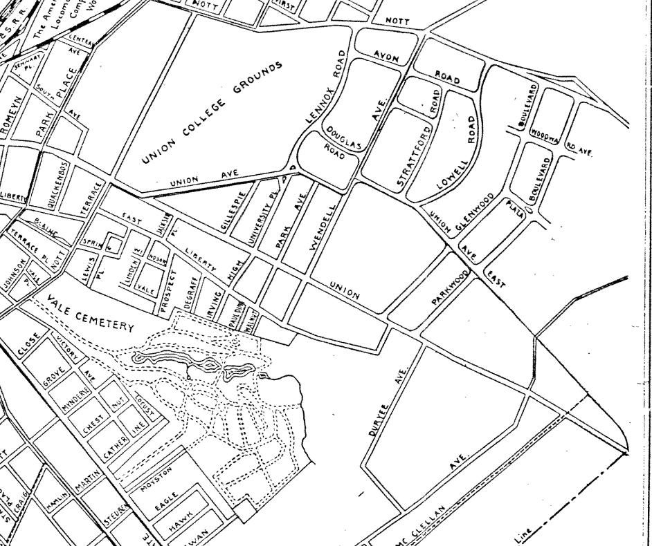 Map of Schenectady, 1901, Edwin Conde, City History Center